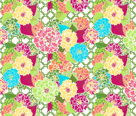 Baloomba Trellis fabric by lulabelle on Spoonflower - custom fabric