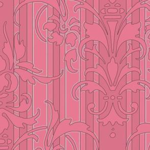 Pink Dawn ~ Pink Damask Stripe II