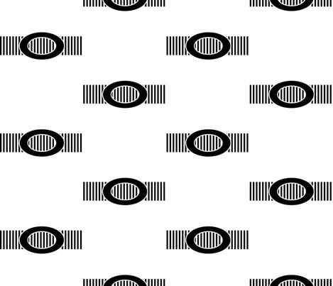 Black Buckle on a Ridged Belt fabric by anniedeb on Spoonflower - custom fabric