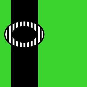 Black Suspenders on Green