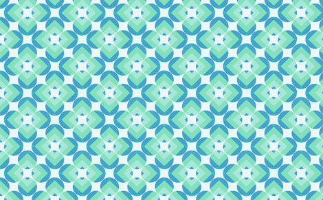 round square green fabric by myracle on Spoonflower - custom fabric