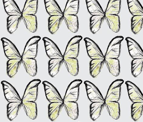 Spring butterflies fabric by mezzime on Spoonflower - custom fabric