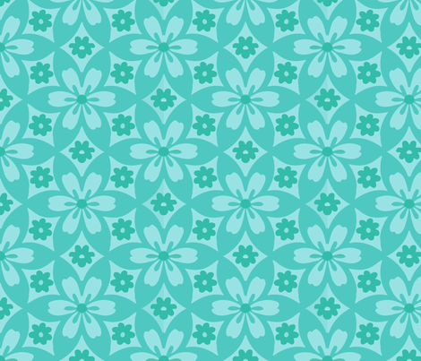 flowerpatch green fabric by myracle on Spoonflower - custom fabric