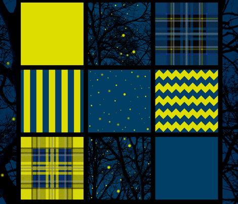 Firefly Quilt Squares fabric by peacoquettedesigns on Spoonflower - custom fabric