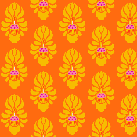 Bollywood Birthday Cake Flame fabric by aimee on Spoonflower - custom fabric