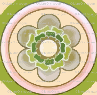 bold flowertile
