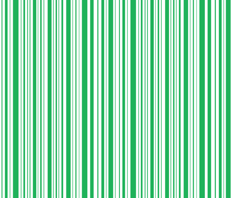 BeeHappy stripe - dark green fabric by celttangler on Spoonflower - custom fabric
