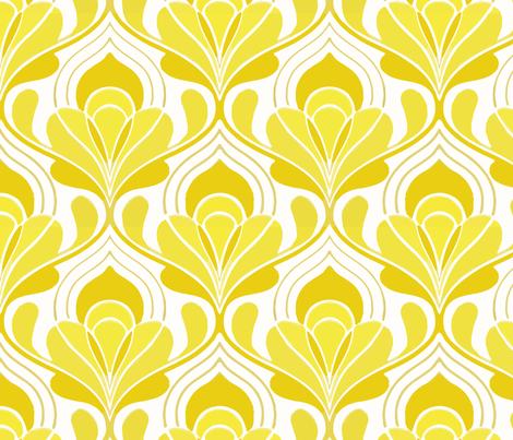 taj mahal yellow fabric by myracle on Spoonflower - custom fabric