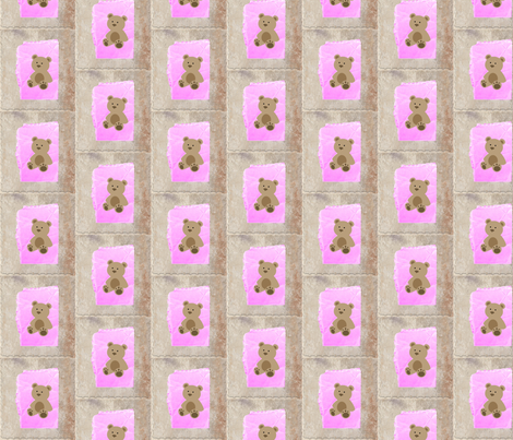 Baby Teddy  bear quilt blocks fabric by dsa_designs on Spoonflower - custom fabric