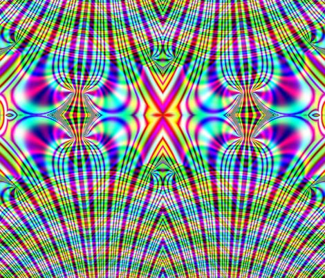 Fractal: Rainbow Plaid Swirled fabric by artist4god on Spoonflower - custom fabric