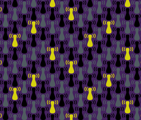 Wireless Network Zigzag Purple Grey fabric by modgeek on Spoonflower - custom fabric