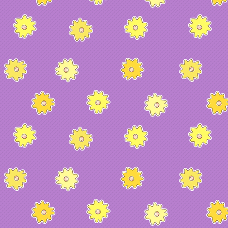 Sun Faces fabric by puddlefoot on Spoonflower - custom fabric