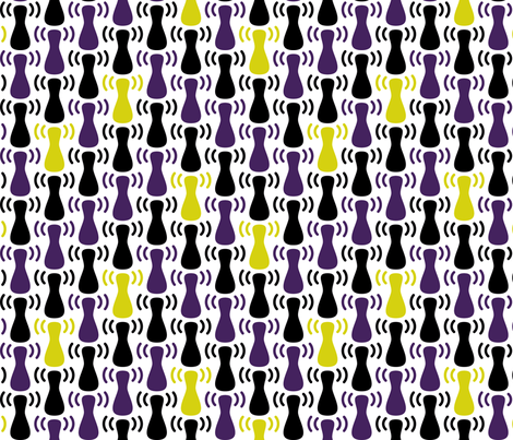 Wireless Network Zigzag White Purple fabric by modgeek on Spoonflower - custom fabric