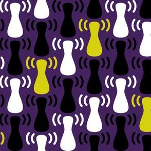 Wireless Network Zigzag Purple White