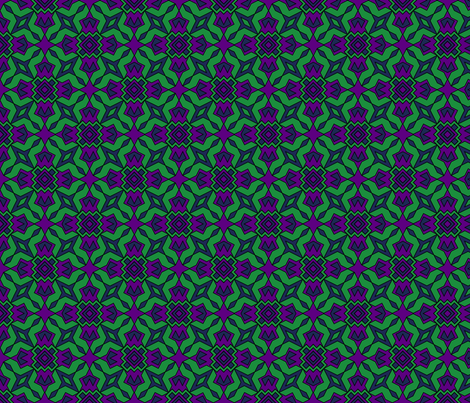 Dark Tiles fabric by because_patterns on Spoonflower - custom fabric
