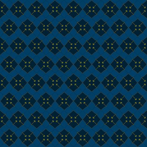 Firefly Chevron fabric by spikymammal on Spoonflower - custom fabric