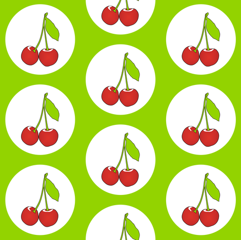 Cherrylime fabric by smuk on Spoonflower - custom fabric