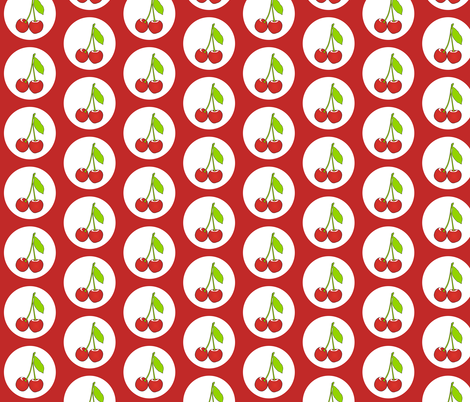 Cherryred fabric by smuk on Spoonflower - custom fabric