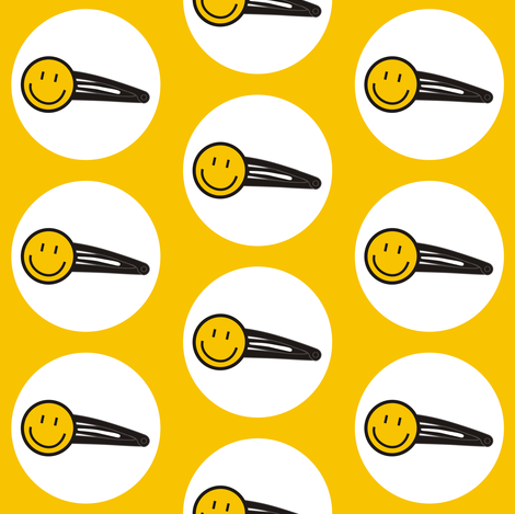 Smiley Clip fabric by smuk on Spoonflower - custom fabric