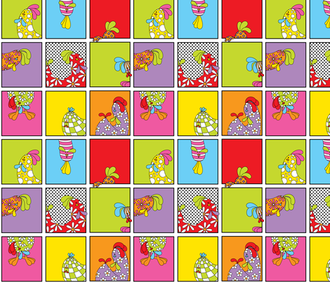 Silly Chicks fabric by koulendroslifestyles on Spoonflower - custom fabric