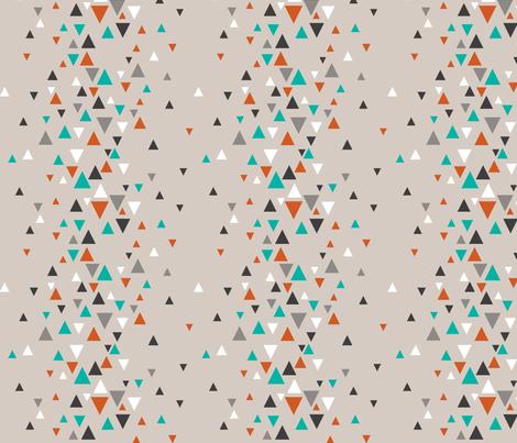 TRI_RAND_teal_orange fabric by glorydaze on Spoonflower - custom fabric