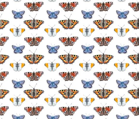Butterflies III fabric by marthabowyer on Spoonflower - custom fabric