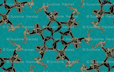 Viking Pattern turqois 1