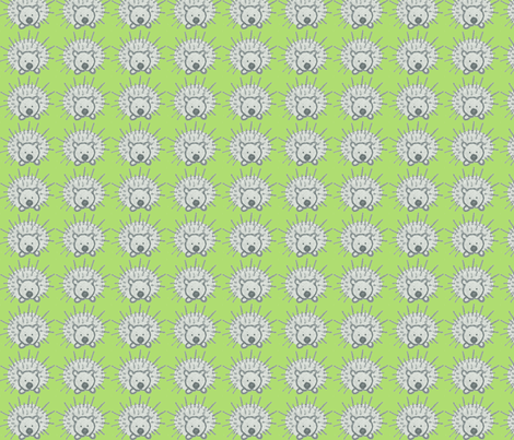 My Friend Spike in Lime Green fabric by kbexquisites on Spoonflower - custom fabric