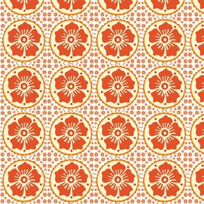 Orange Red Henna Flower