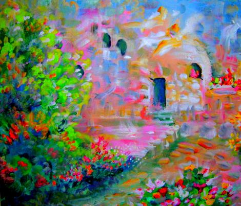 "Garden Tomb 26x16"" Yard fabric by tree_of_life on Spoonflower - custom fabric"