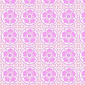 Purple  Henna Flower
