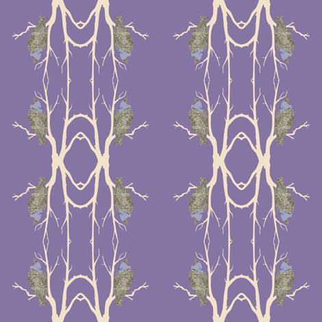 French Bird in Tree fabric by karenharveycox on Spoonflower - custom fabric