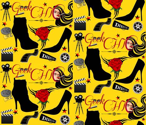 GEEK CHIC IN HOLLYWOOD fabric by bluevelvet on Spoonflower - custom fabric