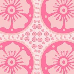 Hot Pink   Henna Flower