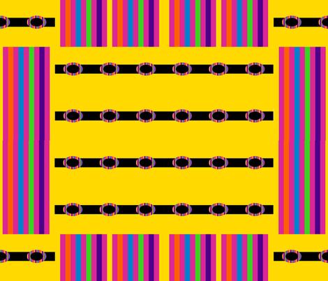 Rainbow Blocks on Yellow fabric by anniedeb on Spoonflower - custom fabric