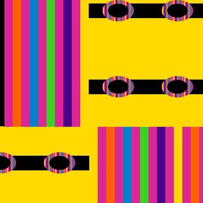 Rainbow Blocks on Yellow