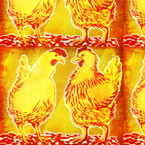 Big_Chicken-ed fabric by hmilwicz on Spoonflower - custom fabric