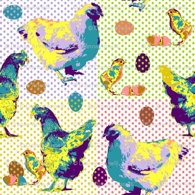 Pop Art Chickens