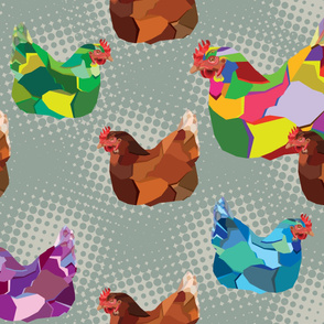 Pop Art Chickens_dowell