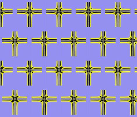 Fractal: Resurrection Cross fabric by artist4god on Spoonflower - custom fabric