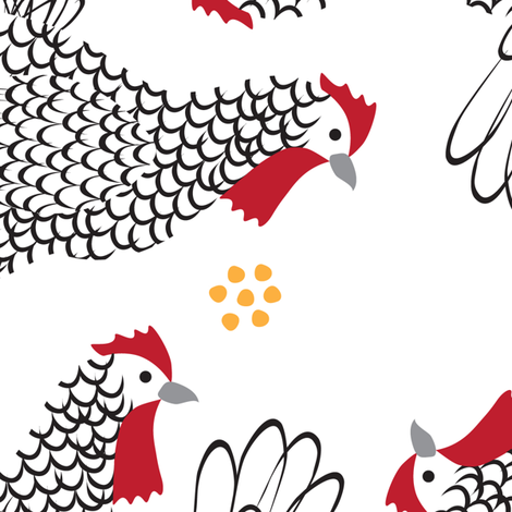 Bantams fabric by melhales on Spoonflower - custom fabric