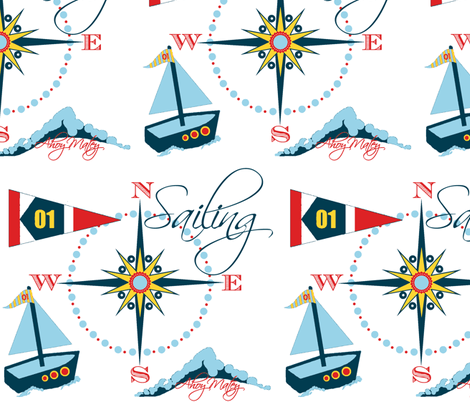 Ahoy Matey / toy boat fabric by paragonstudios on Spoonflower - custom fabric