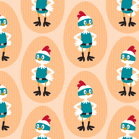 Super chicken fabric by petitspixels on Spoonflower - custom fabric