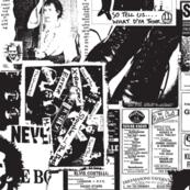 punk rock black and white