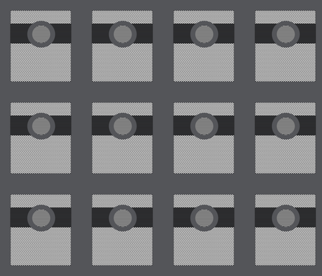 Belted Rectangles on Gray fabric by anniedeb on Spoonflower - custom fabric