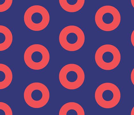Fishman Donuts fabric by gmwetzel on Spoonflower - custom fabric