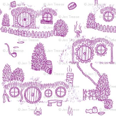 Purple Shire Toile
