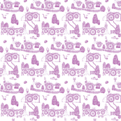 Purple Shire Toile