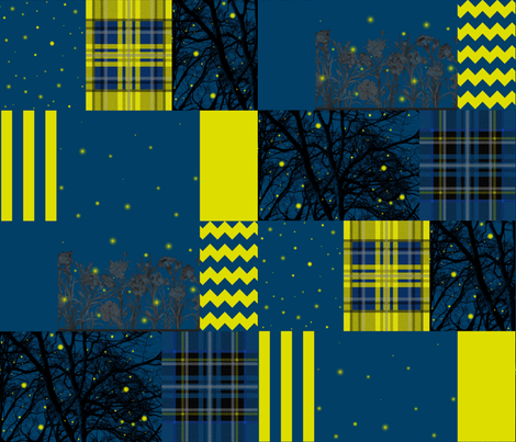 Firefly Cheater Quilt fabric by peacoquettedesigns on Spoonflower - custom fabric