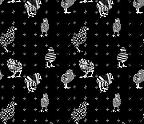 Peep Art fabric by greenmyeyes on Spoonflower - custom fabric